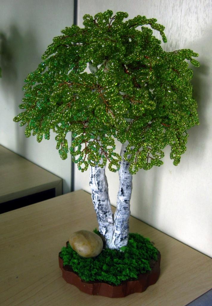 Интерьер Бисероплетение Весенние деревья Бисер фото 3.